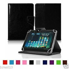 "Premium Leather Case Cover For 7"" Trio Stealth G4 G2 3G 4G Android Tablet TY8HW"