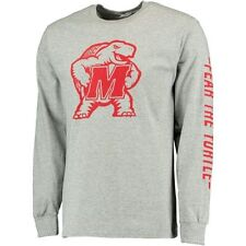 Maryland Terrapins Gray Big Logo with Sleeve Hit Long Sleeve T-Shirt