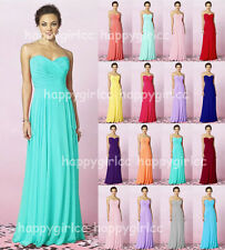 2015 Long Chiffon Evening Formal Party Ball Gown Prom Bridesmaid Dress Size6 -18