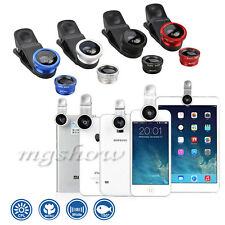 Universal 3in1 180° Fish Eye+Wide Angle+Macro Lens Camera Kit For Mobile Phone