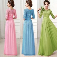 Charm Women Long Evening Party Ball Prom Gown Formal Bridesmaid Cocktail Dress