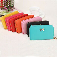 Women Korean Cute Handbag Bowknot Purse Solid Wearable cute Short Wallet fashion