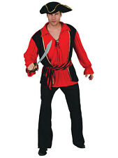 Mens Caribbean Pirate Captain Mate Costume Adult Fancy Dress Outfit Halloween