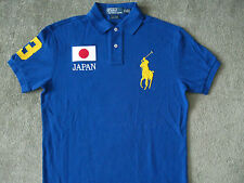 NWT POLO RALPH LAUREN Men's Custom-Fit Neon Country( JAPAN ) Mesh Polo XL