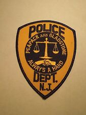 Vintage Peapack Gladstone Police Department New Jersey Embroidered Iron On Patch
