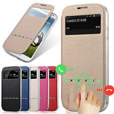 Slim Smart View Window Leather Case Cover For Samsung Galaxy S3 S4 S5 Note 3 4 5
