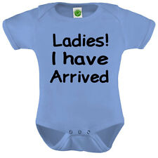 Ladies I Have Arrived Onesie ORGANIC Cotton Romper Baby Shower Gift Funny Presen
