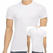 Versace Underwear Mens Iconic Stretch Cotton Round Crew Neck T-shirt, White, Tee