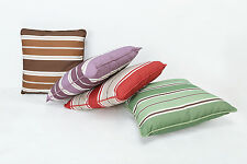 Manna Indoor/Outdoor Throw Pillow Striped Decorative Cushion- Water Resistant