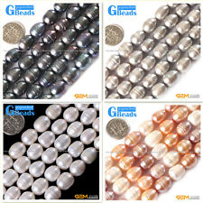 """10-11x12-13mm Freeform Freshwater Pearl Stone Beads Strand 15""""Necklace Making"""