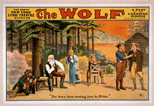 Photo Printed Old Poster: Stage Theatre Flyer New York Lyric Theatre The Wolf 01