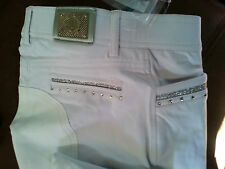 SALE!! HKM DESIGNER RANGE CAVALLINO MARINO ATLANTIS WHITE COMPETITION BREECHES