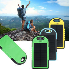 5000mah Dual-USB Waterproof Solar Power Bank Battery Charger for Mobile Phones