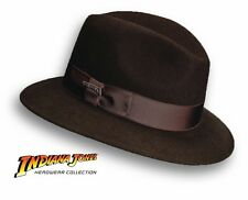 Brown Wool Indiana Jones Fedora Hat Felt Water Resistant Safari M L XL Crushable