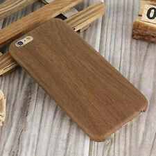Thin Patterned Wood Grain Leather Case Soft Back Cover For iPhone 5 5S 6 6 Plus