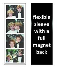 100 Photo Booth Magnetic Frames 2.13x7.25 Full Magnet, white/black free shipping
