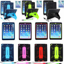 Heavy Duty Case Tradesman Tough Stand Cover For Apple iPad 4 3 2 Air iPad Mini