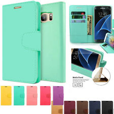 For SAMSUNG GALAXY S2 3 4 5 6 Note Case Leather Flip Cover card wallet Case skin