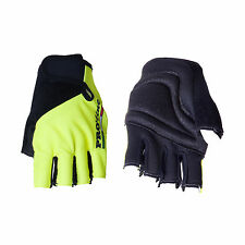 GUANTI CICLISMO PROLINE GIALLO FLUO TERGISUDORE CYCLING GLOVES YELLOW FLUO NEW