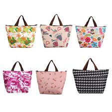 Insulated Tote Lunch Bag Box Canvas Thermal Handbag Food Drinks Holder AU JC4
