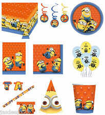 Minions Despicable Me Party Tableware Decorations Birthday Supplies Kids Plates
