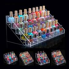 Beauty makeup Nail Polish Stand Holder Acry lic Storage Organizer Rack Dis play