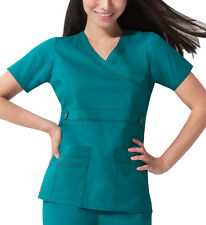 Scrub Dickies Gen Flex Youtility Mock Wrap Top 817355 Teal  FREE SHIPPING
