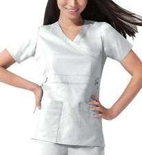 Scrub Dickies Gen Flex Youtility Mock Wrap Top 817355 White  FREE SHIPPING