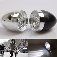 Hot Vintage Bicycle Bike Accessory Front Light Bracket Retro 3LED Headlight Lamp