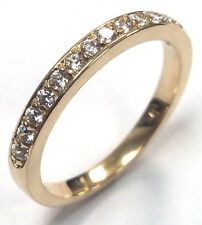 Traditional Bridal 14K Yellow Gold Wedding Band with 0.22ct Diamonds