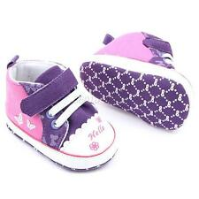 Infant Toddler Baby Girl Canvas Soft Sole Crib Shoes Newborn Sneakers Prewalkers