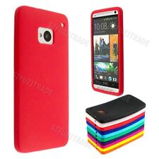 New Silicone Skin Soft TPU GEL Guard Case Cover+ Screen Protector For HTC One M7