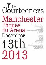 The Courteeners Manchester Phones 4U Arena 13/12/13 Gig Typography Print Poster