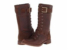 Women's Shoe Timberland Earthkeepers Savin Hill Combat Boots 8542R Tobacco *New*