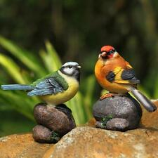 New Resin Bird on Stone Garden Yard Home Room Decoration Figurine Statue Model