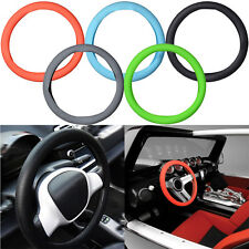 Auto Interior Skidproof Silicone Soft Car Steering Wheel Cover 33.5cm S Size HOT