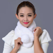 On Sale real rex-rabbit fur circle Scarf Scarves Wraps Snoods Neck Warmer