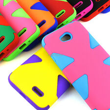 For LG Optimus Exceed 2 Realm Ultimate 2 Dynamic Tuff Impact Armor Hybrid Case