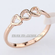 Fashion Hearts Band Ring 18KGP Size 5.5-9