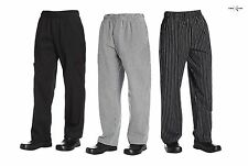 Chef Code the Classic Baggy Chef Pants CC221-22 Houndstooth, Black, Chalkstripe