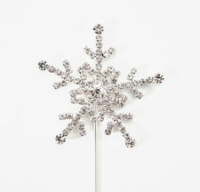 Silver Snowflake Diamante Cake Topper Disney Frozen / Christmas / Kids 3 Sizes