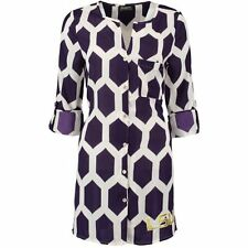 LSU Tigers Women's Purple Honeycomb Tunic Shirt Dress