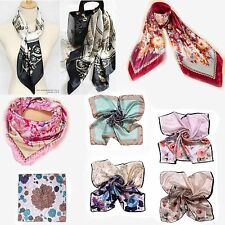 Silk Flower Silk Scarf Neck scarf Headband Mask Wrap Bandana Scarves square