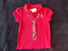 NWT Girl's Gymboree Smart and Sweet pink short sleeve tie shirt ~ 4 5 6 7