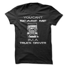 Can't Scare A Truck Driver - Funny T-Shirt Short Sleeve 100% Cotton Trucker Job