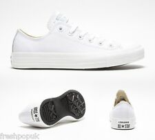 Original Leather Adult Converse Shoes All Star White Mono Ox UK 3 to 10 Unisex