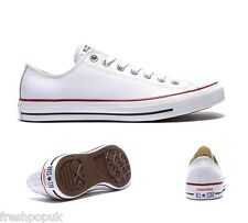 Original Leather Adult Converse Shoes All Star Opti White Ox UK 3 to 10 Unisex