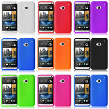 For HTC One M7 2013 Colorful Rubber Silicone Soft Jelly Gel Skin Case Cover