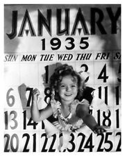 Hollywood Star Calendar Actress Shirley Temple Celebrity Silver Halide Photo