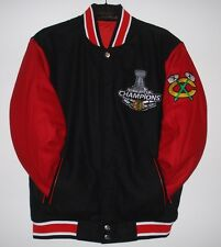 Chicago Blackhawks 6 Times Stanley Cup Champions Wool  Jacket JH Design